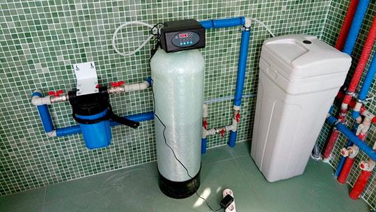 Монтаж умягчителя воды